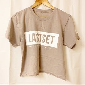 Lastset Co Cropped Tee Taupe Beige